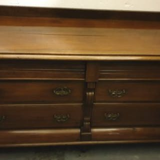 Antique Furniture Hardwood Victorian Sideboard Bank of 2...