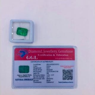 Natural Emerald Loose Gemstone With GGL Certificate/Report Stating