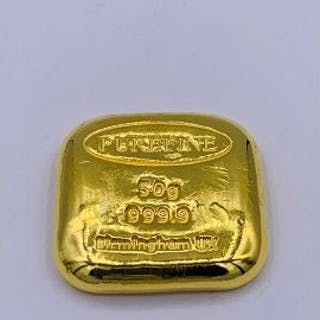 A 50g 999.9 Gold Ingot Birmingham