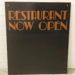 A restaurant blackboard from iconic Biba store (H92cm W77cm)