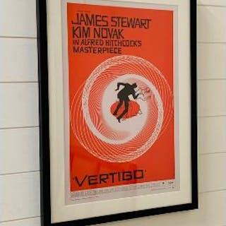 "A framed poster ""Vetigo"" by Saul Bass"
