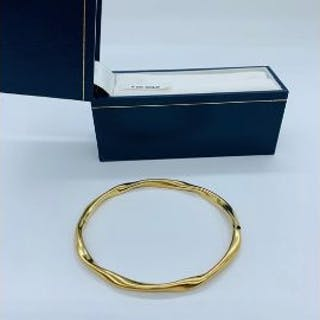 A 9ct yellow gold bracelet in box. (5.1g)