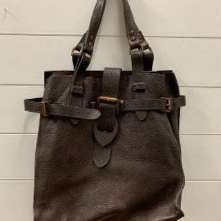 Mulberry vintage Elgin natural leather brown with bronze hardware bag