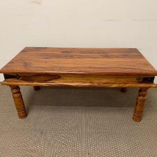 An India hardwood of classic design coffee table
