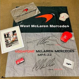 A selection of Mercedes McLaren promotional items to include three
