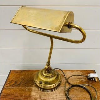A Christopher Wray Bankers Desk Lamp