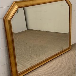 An large over mantle mirror (106cm x 134cm)