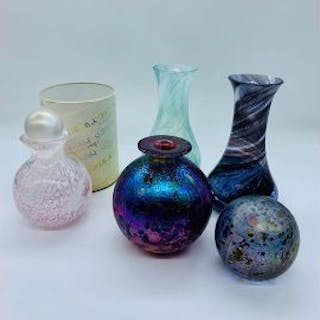 A selection of studio glass.