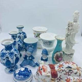 A selection of porcelain and china including Limoges and Royal Copenhagen.