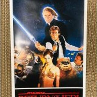 "Original 14"" X 36"" insert STAR WARS RETURN OF THE JEDI STYLE B Rolled"