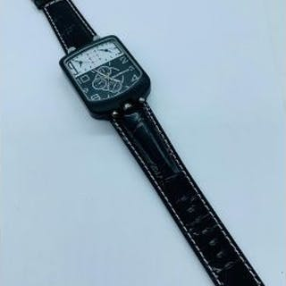 An unusual multi time zone watch by Armani