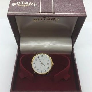 A Rotary Gents watch with no strap in original box