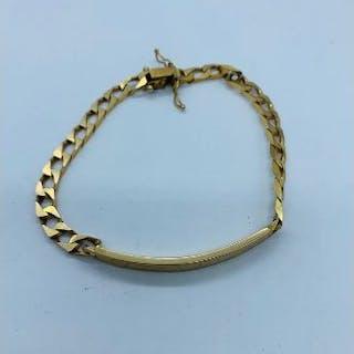 A 9ct gold gents bracelet (11.81g)