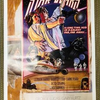 Original KILIAN STAR WARS Circus Style D 27x41 unnumbered Fan Club