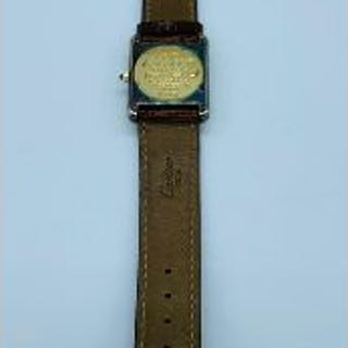 A Must De Cartier Ladies Vermeil Tank Quartz watch