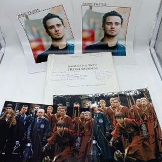 Movie Memorabilia: Two Harry Potter signed photographs by Jamie Yeates
