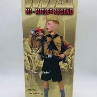 WWII German DiD Hermann Weber Bugle NIB 1/6 Scale In Original Box Hitler Youth