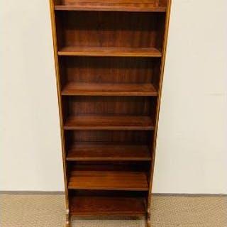 Open mahogany bookcase