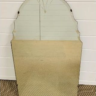 A Arched wall hanging mirror