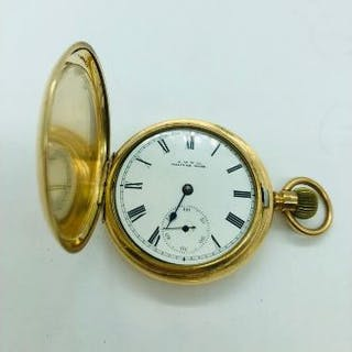 A Gents Gold plated Waltham Pocket Watch c.1920's