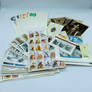 A selection of stamps and first day covers