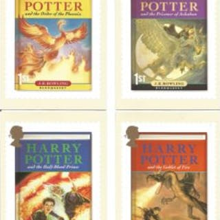 Harry Potter 12 PHQ 2007 cards each with stamps and special postmarks