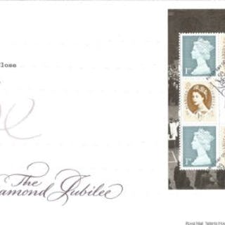 The Diamond Jubilee unsigned FDC. Date stamp Windsor Berkshire 31st