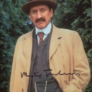 Poirot 8x10 TV detective drama photo signed by actor Philip Jackson