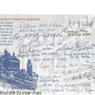 Battle of Britain multiple signed Raflet Stamp Club cover. 17 Signatures