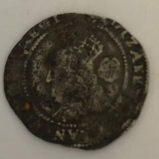 Elizabeth 1st silver coin dated 1575.