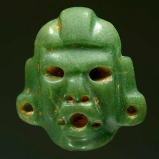 Olmec Green Jade Masket Pendant