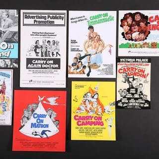Lot #36 - CARRY ON: VARIOUS PRODUCTIONS (1969-92) - Eight UK Synopses