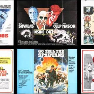 Lot #68 - VARIOUS PRODUCTIONS (1965-78) - Six UK Quad Posters 1965-78
