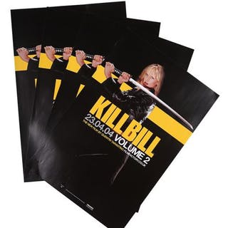 Lot #74 - KILL BILL: VOLUME 2 (2004) - Four UK Double-Crown Advance