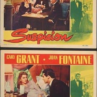 Lot #200 - SUSPICION (1941) - Two US Lobby Cards 1941