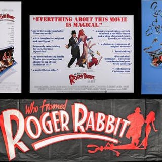 Lot #219 - WHO FRAMED ROGER RABBIT (1988) - Three Posters and One Banner 1988