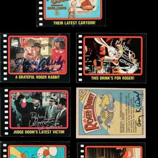 Lot #222 - WHO FRAMED ROGER RABBIT (1988) - Seven Autographed Trading