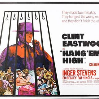 Lot #234 - HANG EM HIGH (1968) - UK Quad Poster 1968