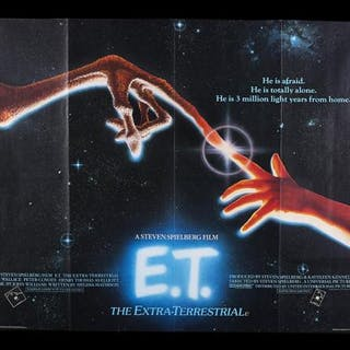 Lot #354 - ET THE EXTRA-TERRESTRIAL (1982) - UK Quad Poster 1982