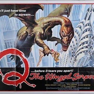 Lot #372 - Q:THE WINGED SERPENT (1982) - UK Quad Poster 1982