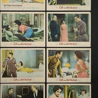 Lot #411 - CAT ON A HOT TIN ROOF (1958) - Set of Eight US Lobby Cards 1958
