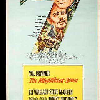 """Lot #438 - THE MAGNIFICENT SEVEN (1960) - US 40x60 """"Style-Y"""" Poster 1960"""