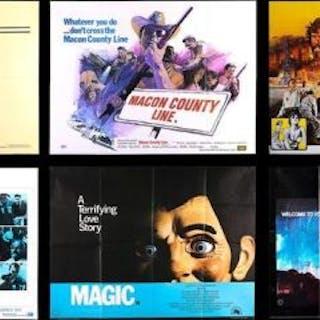 Lot #10 - VARIOUS PRODUCTIONS (1974-83) - Six UK Quad Posters 1974-83