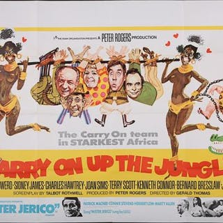 Lot #33 - CARRY ON UP THE JUNGLE (1970) - UK Quad Poster 1970