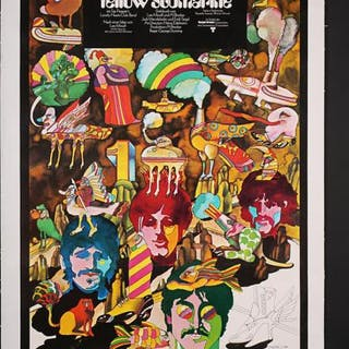 Lot #53 - YELLOW SUBMARINE (1968) - German A1 Poster 1968