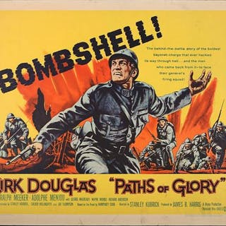 Lot #99 - PATHS OF GLORY (1957) - US Half-Sheet Poster 1957