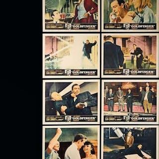 Lot #127 - JAMES BOND: GOLDFINGER (1964) - Set of Eight US Lobby Cards 1964
