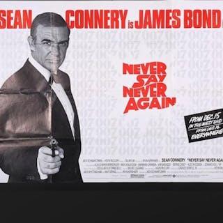 Lot #158 - JAMES BOND: NEVER SAY NEVER AGAIN (1984) - UK Quad Advance
