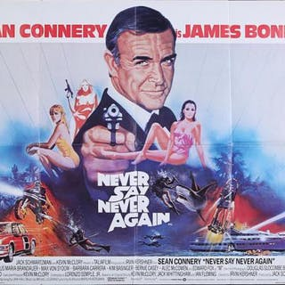 Lot #159 - JAMES BOND: NEVER SAY NEVER AGAIN (1984) - UK Quad Poster 1984