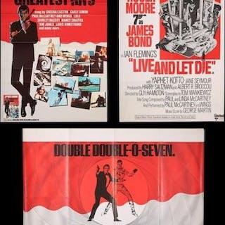 Lot #163 - JAMES BOND: VARIOUS PRODUCTIONS (1973-82) - Three UK Posters 1974-82
